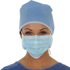 Masque chirurgical normes EN 14 683 et ISO 13 485